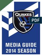 Quakes Media Guide 2014