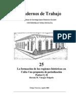 Formación de Regiones Históricas en Cuba