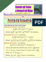 Bab 9 Bentuk Tak Tentu Dan Integral Tak Wajar