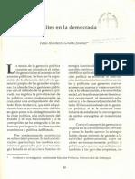 Las Élites en La Democracia