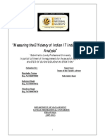 DEA analysis of Indian IT industry