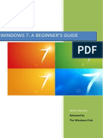 Windows 7 Beginners Guide
