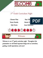 2nd Grade Curriculum Night Presentation