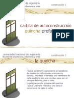 Cartilla del sistema de Quincha Prefabricada
