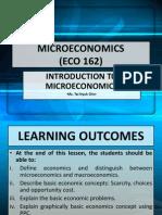 1. ECO 162-Introduction to Microeconomic