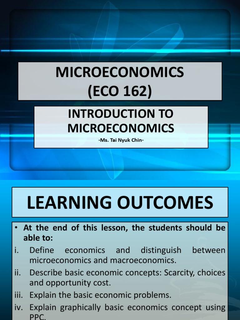 simple definition of microeconomics