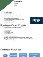 SAP MM Business Processes
