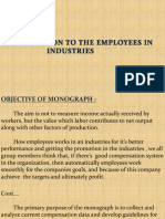 Employee Compensation in Industries