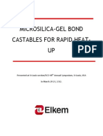 76-Microsilica-gel Bond Castables for Rapid Heat-up