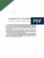 ASME B31.1 Interpretation No 5