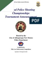 Tournament Announcement
