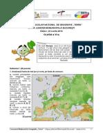 Subiecte Bareme Concurs Terra Editia I Clasa6
