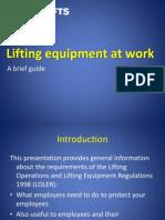 liftingequipmentatwork-140121051549-phpapp01
