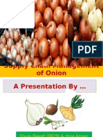 Supply Chain Management of Onion