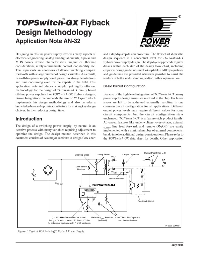 Flyback Smps Design Guide Rectifier Capacitor Process Flow Diagram Optional Steps