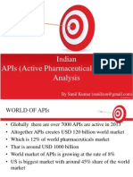 Indian APIs (Active Pharmaceuticals Ingredients) Analysis