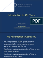 Baltimore-- Introduction to SQL Trace
