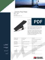 Wm 526 Electronic Floor Pedal Data Sheet