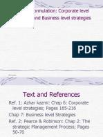 4.Strategy Formulation-Corporate Level Strategies