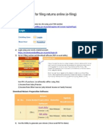 Steps for Filing Returns Online