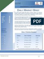Daily Market Brief (Monday, December 16, 2013)