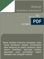 Referat Presentasi anestesi