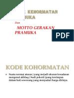 Kode Kehormatan Pramuka & Moto