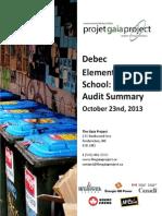Debec Elementary School - Waste Audit Summary