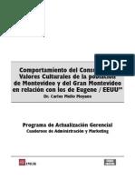 Comportamiento Del Consumidor - Valores Culturales Montevideo
