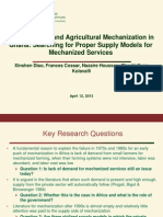 Intensification and Agricultural Mechanization in Ghana (1)