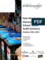 New Maryland Elementary School - The Gaia Project Waste Audit Summary