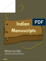 Indian Manuscripts – Mocomi.com