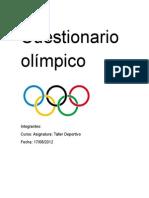 Cuestionario olímpico