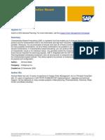 APO DP Characteristics-Based Forecastig