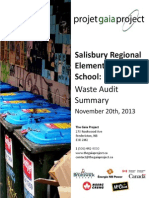 Salisbury Regional Elementary School - Waste Audit Summary of November 20th 2013