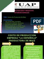 Costo de Produccion de Maiz- Diapositivas