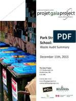 Park Street School - Waste Audit Summary From December 11, 2013