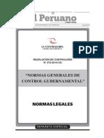 R.C. Nº 273-2014-CG, Normas Generales de Control Gubernamental