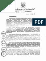 RM 365-2014-MINEDU Modifican Anexo 2 de RM 298 Metas de Reubicación