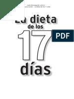 Primeras Paginas Dieta 17 Dias