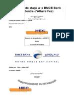 Rapport de Stage La BMCE Bank