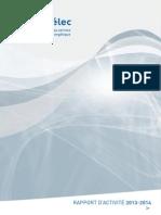 Rapport d'Activité 2013-2014