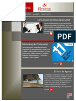 Marketing Newsletter - Agosto 2014
