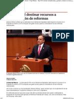 19-08-14 Buscará PRI Destinar Recursos a Consolidación de Reformas