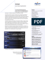 Digium VOIP Gateways Datasheet