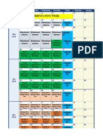Teaching Plan Calendar