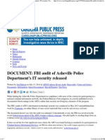 DOCUMENT_ FBI Audit of Asheville Police Department's IT Security _ CarolinaPublicPress