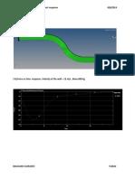 S beam bending analysis