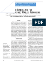 AN ARCHITECTURE FOR SOFTWARE DEFINED WIRELESS NETWORKING