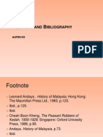 AUFB5103 - Footnote and Bibliography